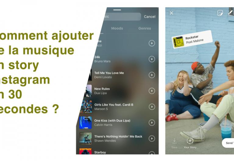 Ajouter de la musique en story Instagram en 30 sec